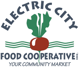 logo for the electric city food coop